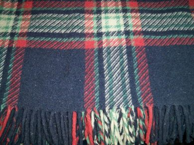 Vintage Scottish Plaid Woolcraft Robe Blanket